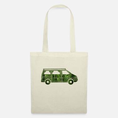 gordijn camperwagen met gordijnen bos cadeau tas van stof
