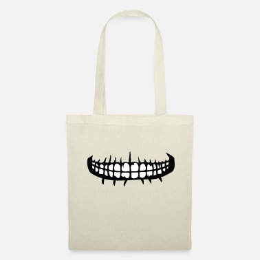 Mouth teeth mouth grin horror halloween scary boes - Tote Bag