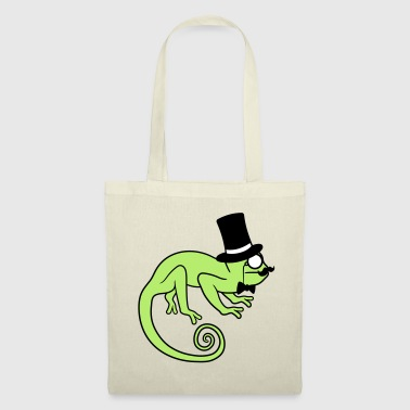 Glass Sir gentlemen cylinder hat monocle glasses rei - Tote Bag