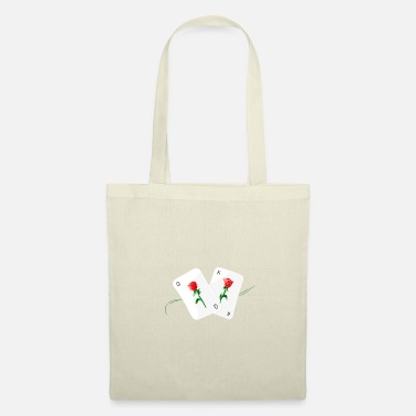Playing Playing cards with rose design - Tote Bag