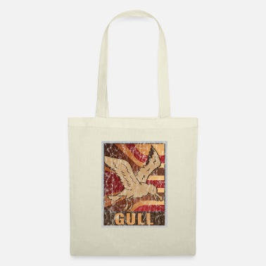Beak Retro Seagulls Poster Distressed Look - Tote Bag