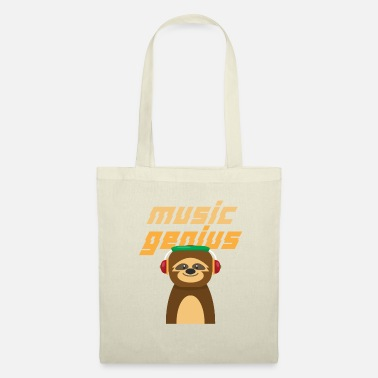 Lit Sloth Slowly Paress Sleeping Music Gift - Tote Bag