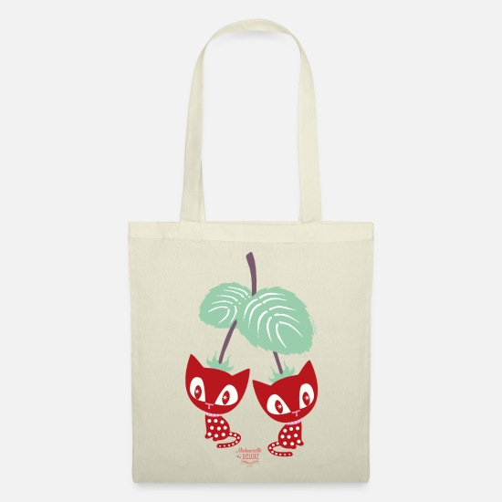 Officialbrands Bags & Backpacks - Mademoiselle Deluxe Strawberry Cats - Tote Bag nature