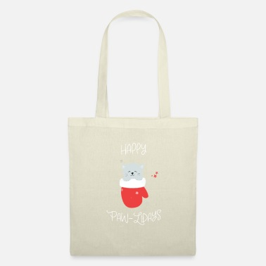 Hipster Happy Paw-Lidays - Tote Bag