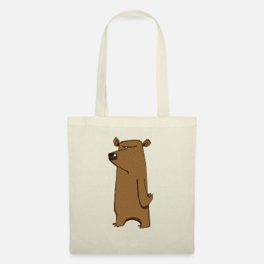 Funny Grumpy Cartoon Bear Hate Monday - Tote Bag