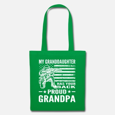 Serve My Granddaughter Has Your Back Proud Grandpa - Tote Bag