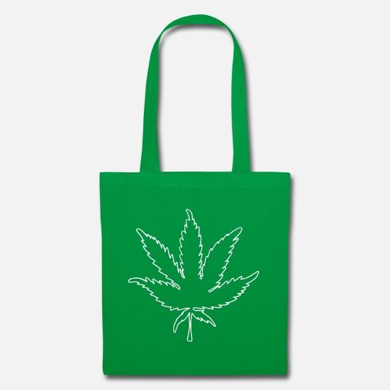 21120707d7 Pâques Sacs et sacs à dos - Vecteur de la feuille de marijuana 001 blanc -