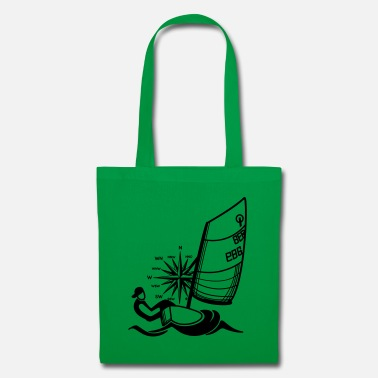 Dinghy Sailing Optimist with compass - Tote Bag