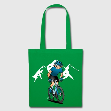 MTB - Mountain biker in the mountains - Tote Bag