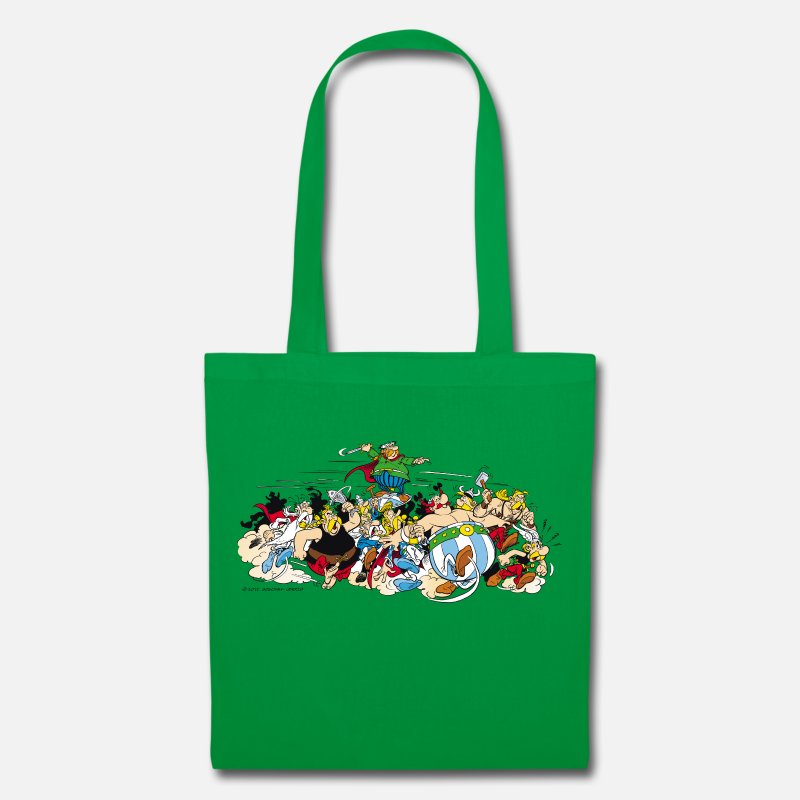 Officialbrands Bags & Backpacks - Asterix & Obelix attack Tote Bag - Tote Bag kelly green