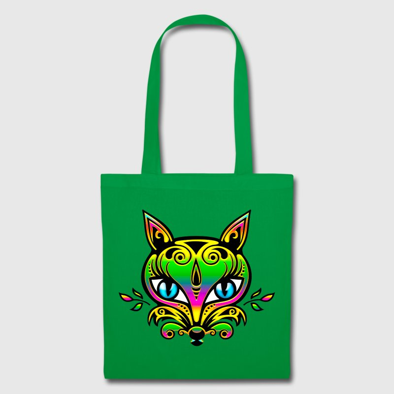 Zorro, arco iris, bosque, fox, save nature, earth - Bolsa de tela