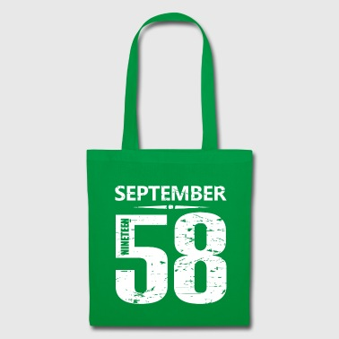 Birth September 1958 Jersey Number - Tote Bag