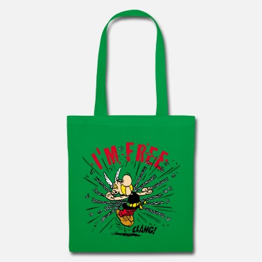 Officialbrands &amp Asterix & Obelix - Asterix 'I'm Free' Hoodie - Tote Bag
