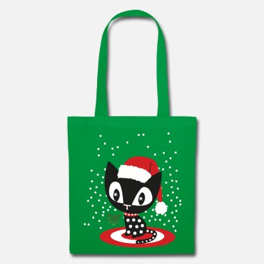 Mademoiselle Deluxe Christmas Cat - Tote Bag