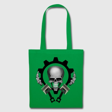 piston Skull - Tote Bag