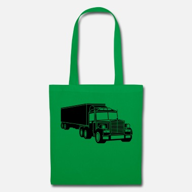 Forest black truck truck wagon remote driver driving car - Tote Bag