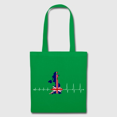 Heartbeat UK - I love UK - Tote Bag