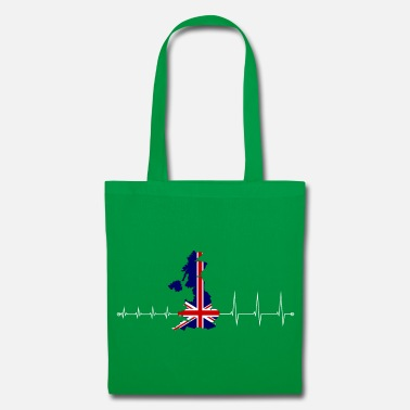 Uk Heartbeat UK - I love UK - Tote Bag