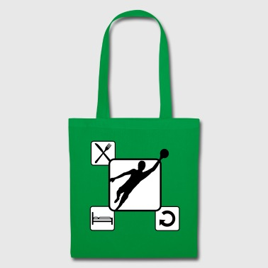 Goalkeeper repeat expiration days daily eat drink sch - Tote Bag