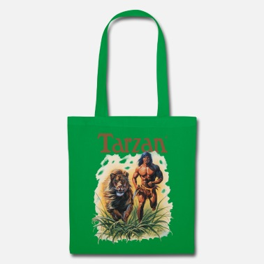 Tarzan Running Lion Through Wilderness - Tote Bag