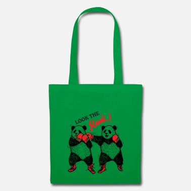 Boxing pandas hand out - Tote Bag
