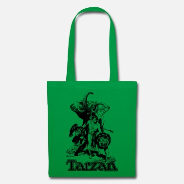 Tarzan Elephant Apes Lion Fight - Tote Bag