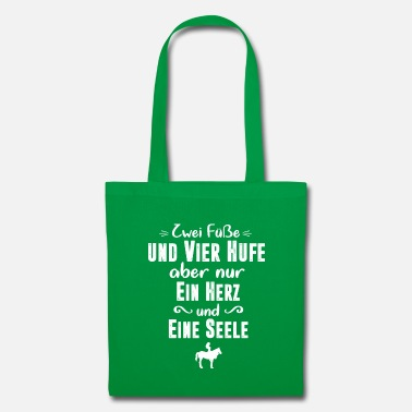 Gallop Riding & Horses - Two feet and four hooves - Tote Bag