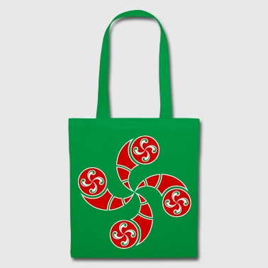Croix Basque rouge - Tote Bag