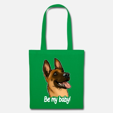 Belgian Malinois Be my baby berer malinois (white text) - Tote Bag