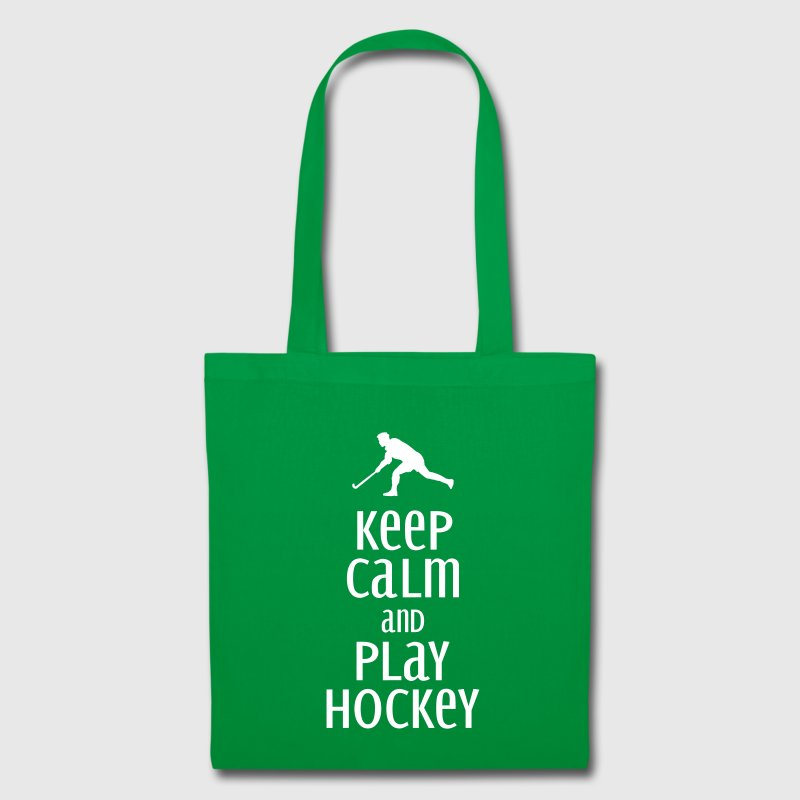 keep calm and play hockey - Stoffbeutel