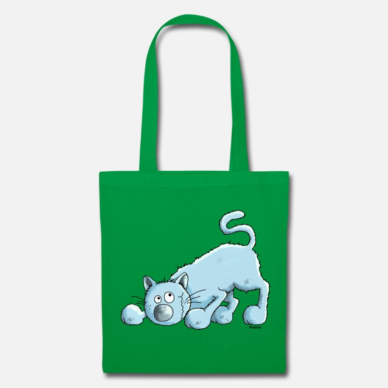 Cat Bags & Backpacks - Blue British Shorthair Cat - Tote Bag kelly green