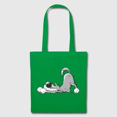 Happy Grey Wolf - Tote Bag
