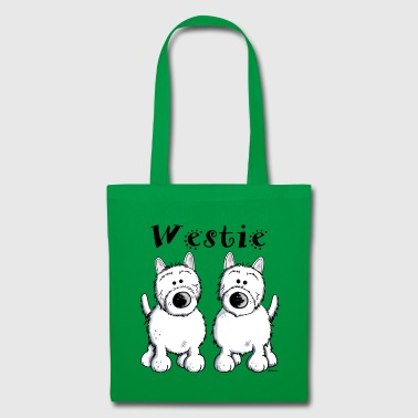 Cute West Highland Terrier  - Tote Bag