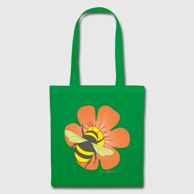Flower with bumblebee - Tote Bag