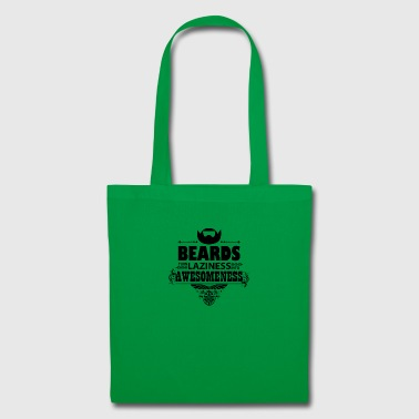 beards_laziness_awesomeness 10x - Tote Bag