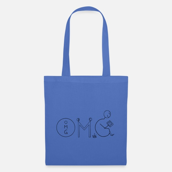 Read Bags & Backpacks - OMG - Tote Bag light blue