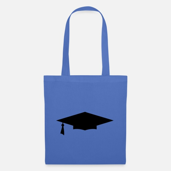 Bowler Bags & Backpacks - diploma hat icon 12 - Tote Bag light blue