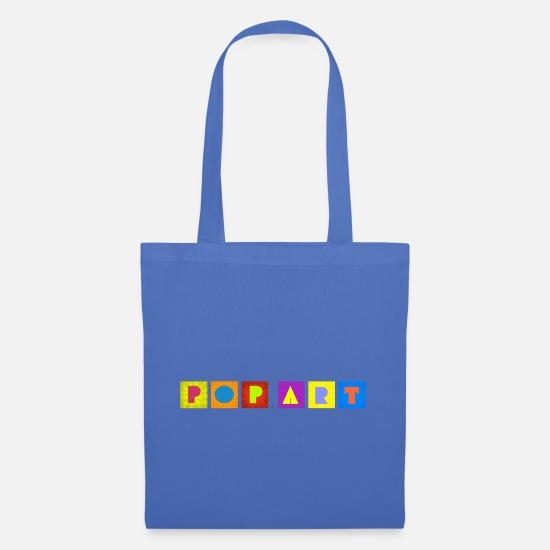 Pop Art Borse & Zaini - POP ART - Borsa di stoffa celeste