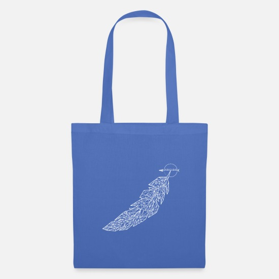 Feather Bags & Backpacks - Feathered - Tote Bag light blue