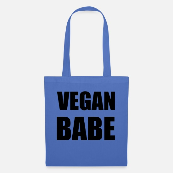 Quote Bags & Backpacks - VEGAN BABE - Tote Bag light blue
