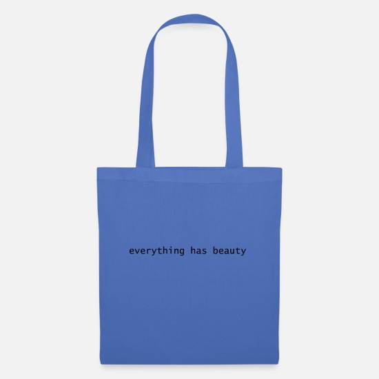 Gift Idea Bags & Backpacks - EVERYTHING HAS BEAUTY - TUMBLER T-SHIRT - Tote Bag light blue