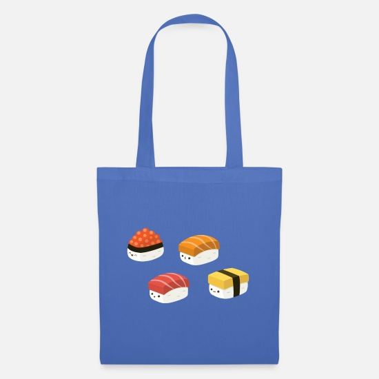 Egg Bags & Backpacks - Kawaii Sushi, Cute, Happy, Fun Japanese Art Design - Tote Bag light blue