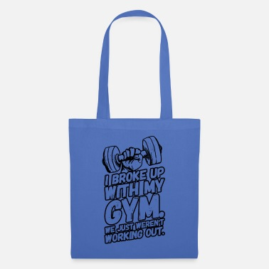 Breakup Fitness workout sports sayings separation - Tote Bag