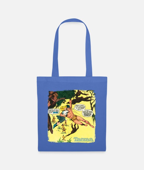 Friendship Bags & Backpacks - Tarzan Jane Old Comic Cover - Tote Bag light blue