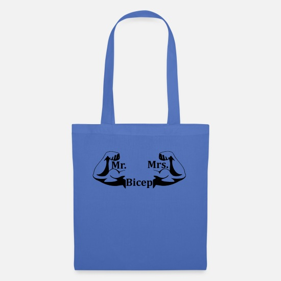 Gift Idea Bags & Backpacks - Mr and Mrs Bicep biceps muscle gift idea - Tote Bag light blue