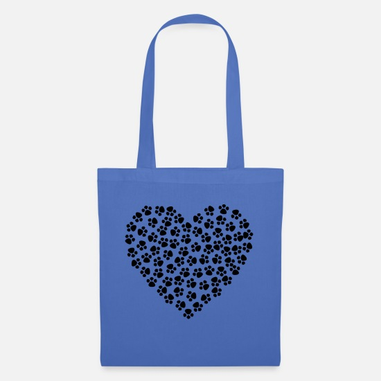 Dog Owner Bags & Backpacks - Dogs - paws heart - Tote Bag light blue