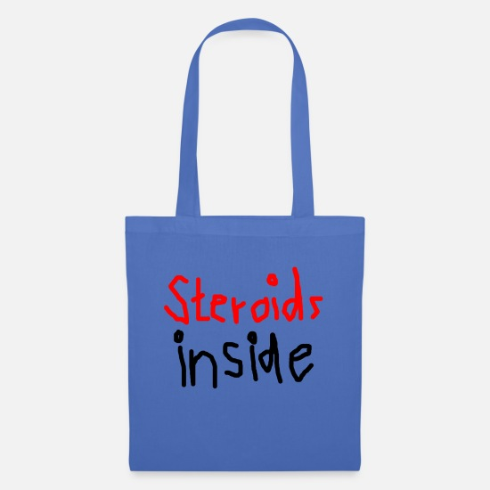 Steroids Bags & Backpacks - Steroids inside - Tote Bag light blue
