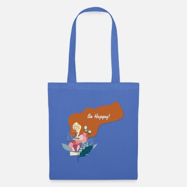 Happy Be Happy - Be Happy - Tote Bag