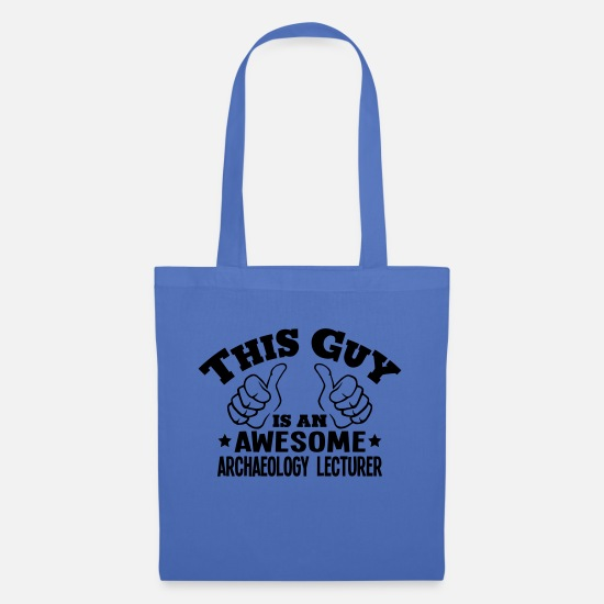 Archaeology Bags & Backpacks - this guy is an awesome archaeology lectu - Tote Bag light blue
