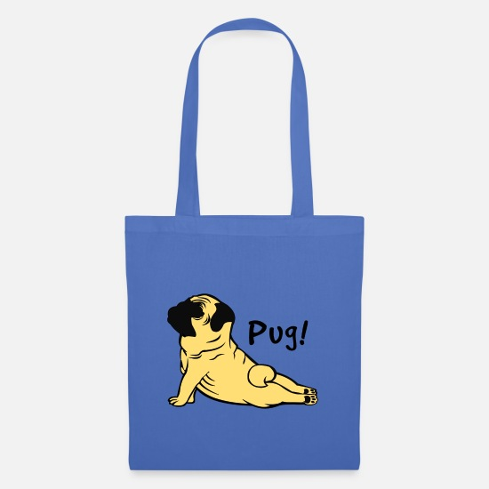 Pug Bags & Backpacks - Pug Pug Gift - Tote Bag light blue